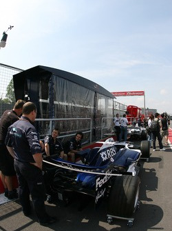 Williams at technical inspection line