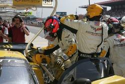 #64 Corvette Racing Corvette C6R driver change