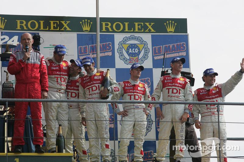 Podium LMP1 : Audi Sport Team Joest sur le podium