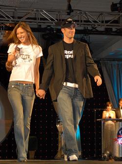 Tomas Scheckter and girlfriend Alesha Rossi
