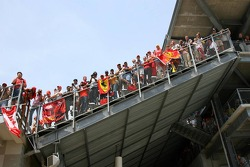 Fans watch from the grandstand