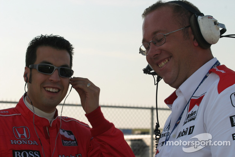 Sam Hornish Jr. et Tom German