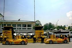 La zone des stands de Penske Motorsports