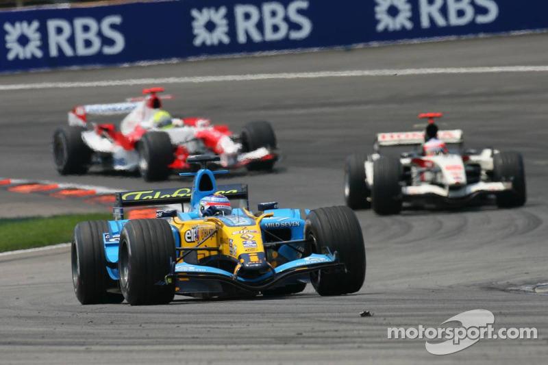 Giancarlo Fisichella, Rubens Barrichello et Ralf Schumacher