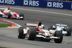 Rubens Barrichello and Jacques Villeneuve