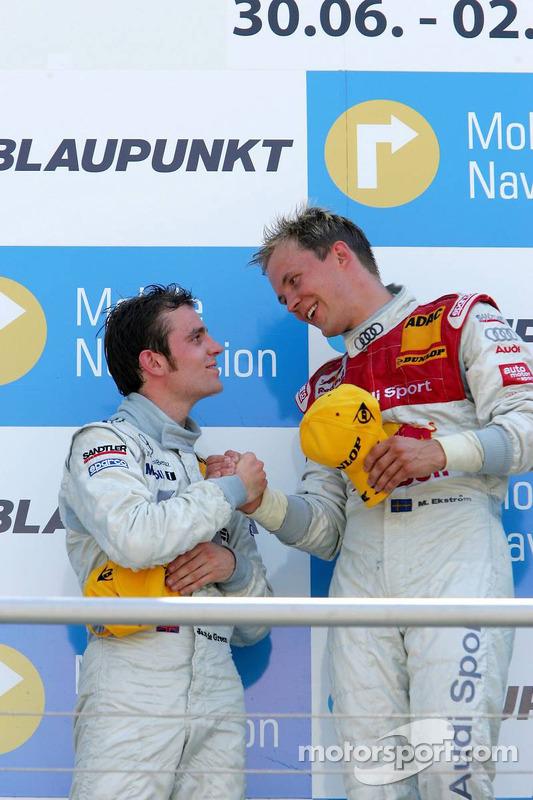 Podium: Mattias Ekström et Jamie Green