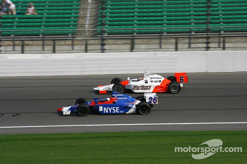 Marco Andretti et Sam Hornish Jr.