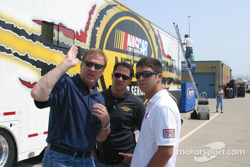 Rusty Wallace, David Stremme et Reed Sorenson