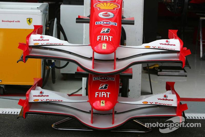 Les ailerons avant de la Ferrari