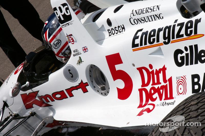 Nigel Mansell dans la Carl Haas 93 Lola Indycar