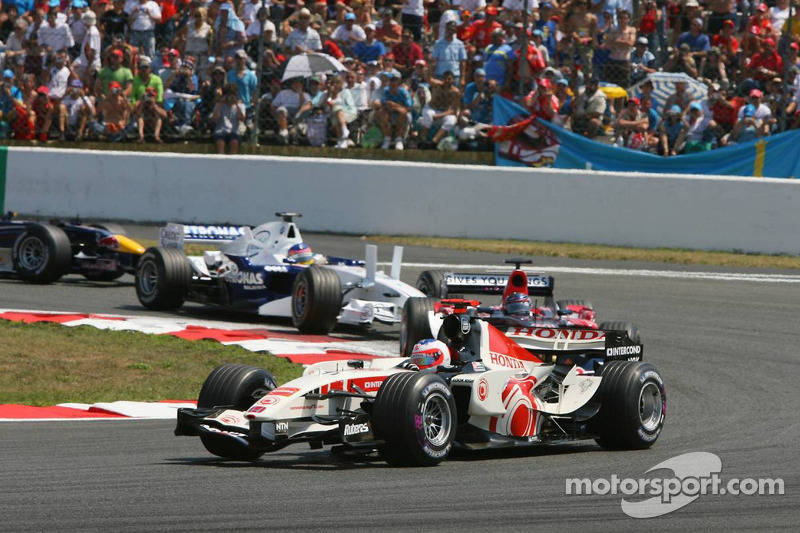 Rubens Barrichello et Scott Speed