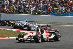 Rubens Barrichello and Scott Speed