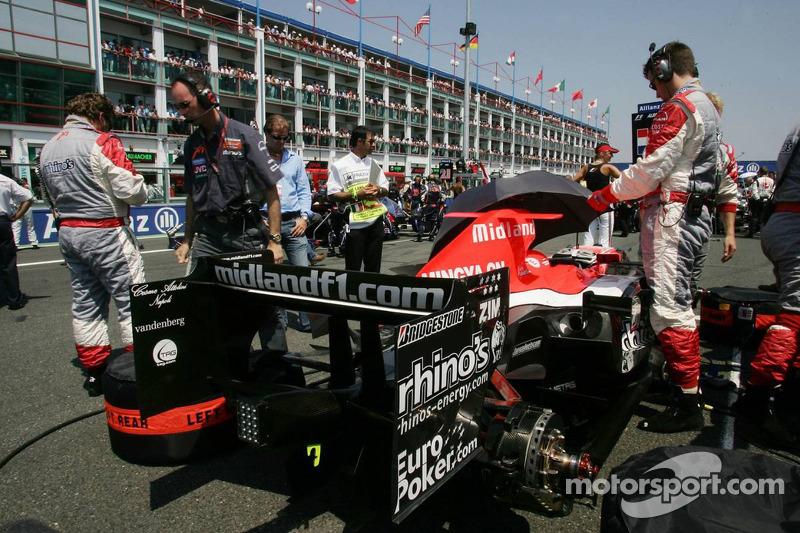 La Midlet MF1 Racing M16 sur la grille