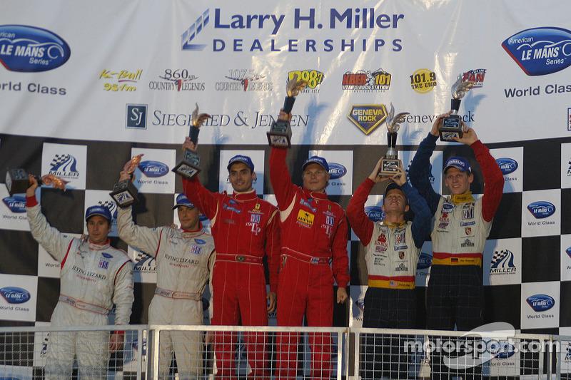 Podium de la LM GT2
