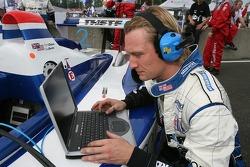 Dyson Racing Team crew member at work