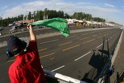 Green flag is dropped