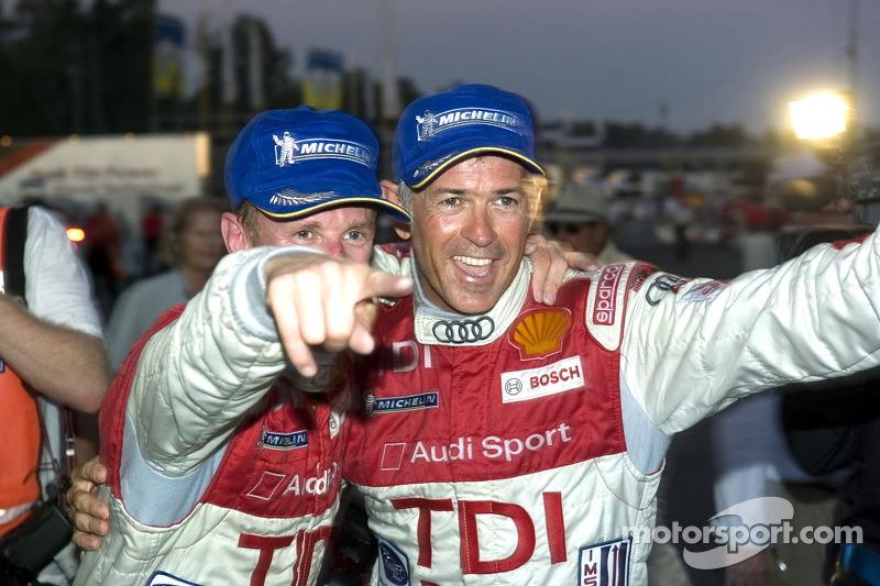 #2 Audi Sport North America Audi R10 TDI Power: Rinaldo Capello, Allan McNish fête leur victoire en LMP1