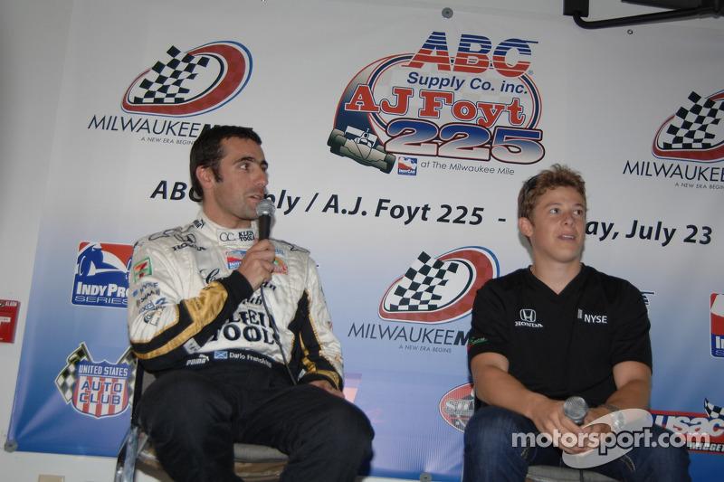Conférence de presse: Dario Franchitti et Marco Andretti