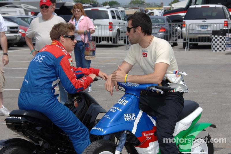 Marco Andretti et Dario Franchitti