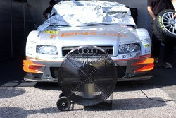 La voiture de Jeroen Bleekemolen avec un ventilateur