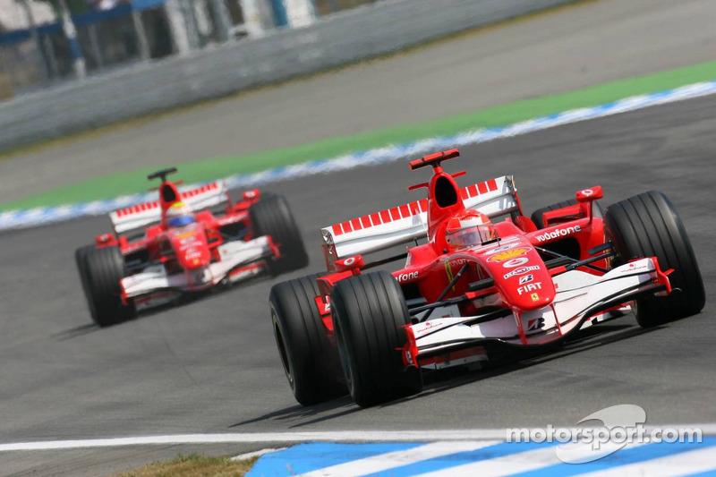 Michael Schumacher und Felipe Massa