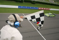 #76 Krohn Racing Ford Riley: Jorg Bergmeister, Colin Braun takes the checkered flag