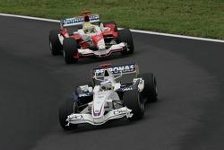 Nick Heidfeld leads Ralf Schumacher