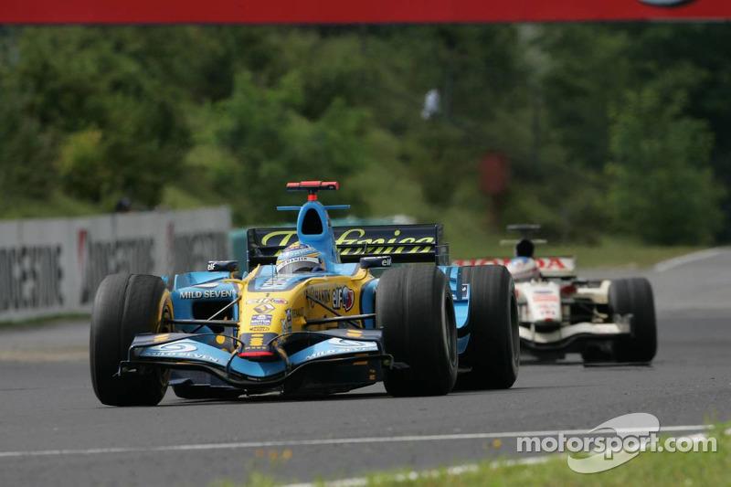 Fernando Alonso y Rubens Barrichello