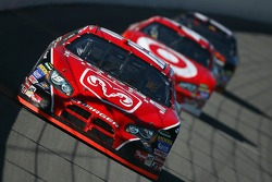 Elliott Sadler leads Reed Sorenson and Denny Hamlin