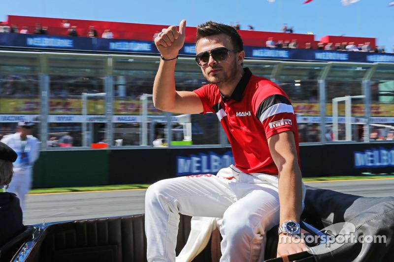 Will Stevens, Manor Marussia F1 Team, bei der Fahrerparade