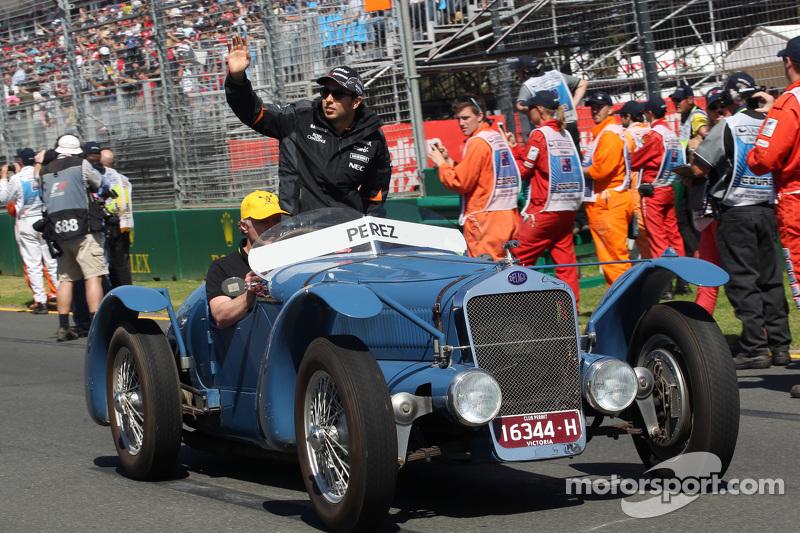 Sergio Perez, Sahara Force India F1, bei der Fahrerparade