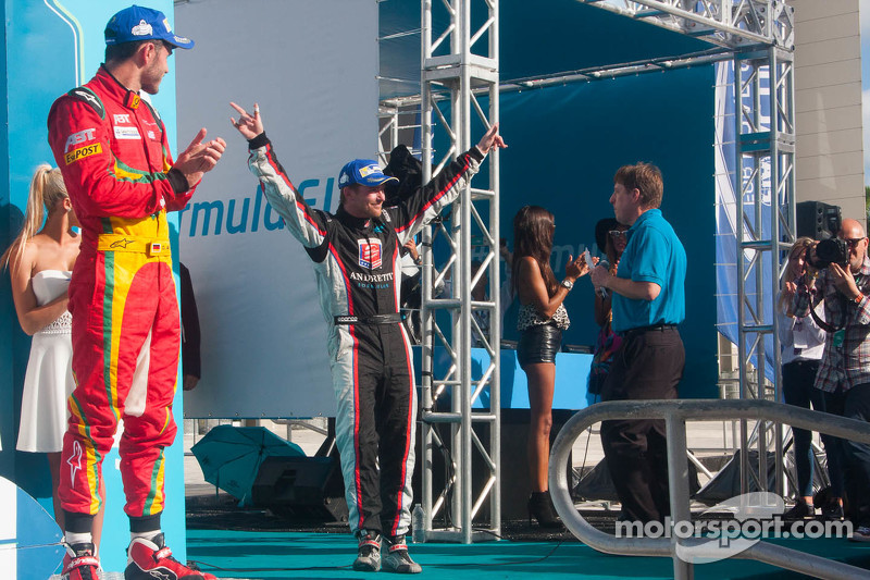 Podium: second place Scott Speed, third place Daniel Abt