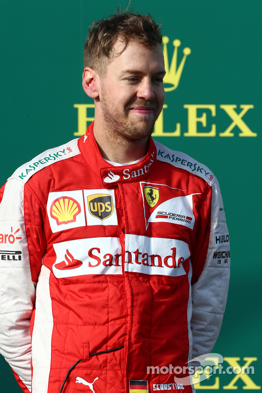 Peringkat ketiga Sebastian Vettel, Ferrari SF15-T