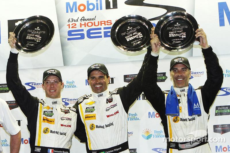 Gesamtpodium: 1. Sébastien Bourdais, Christian Fittipaldi, Joao Barbosa, Action Express Racing