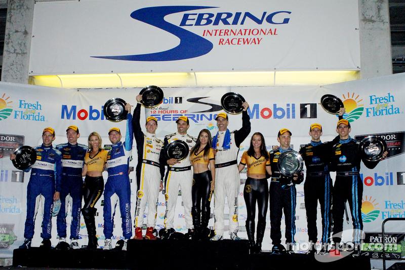 P class podium: Joao Barbosa, Sébastien Bourdais, Christian Fittipaldi, second place Ricky Taylor, J
