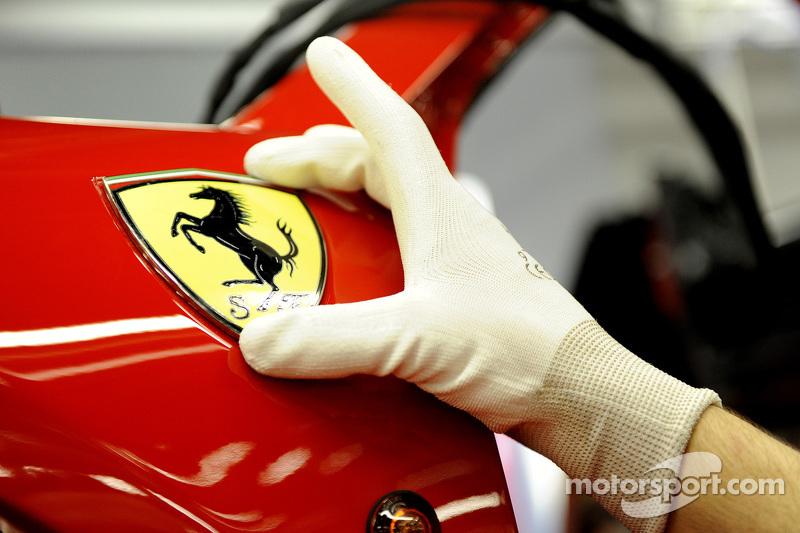 Ferrari Prancing Horse on assembly line