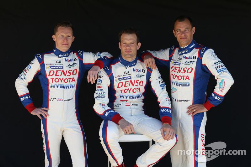 Mike Conway, Alexander Wurz, Stéphane Sarrazin, Toyota Racing