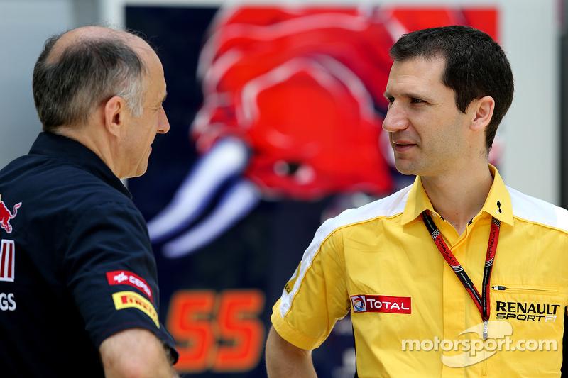 Franz Tost, Scuderia Toro Rosso, Team Principal and Remi Taffin, Renault Sport F1 Head of track oper