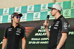 Sergio Perez, Sahara Force India F1 bersama team mate Nico Hulkenberg, Sahara Force India F1