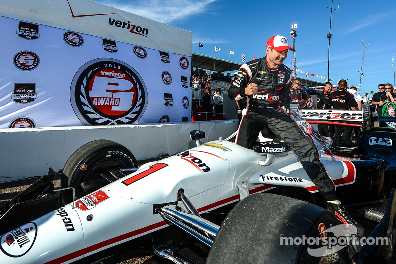 Pole-Sitter: Will Power, Team Penske, Chevrolet, feiert