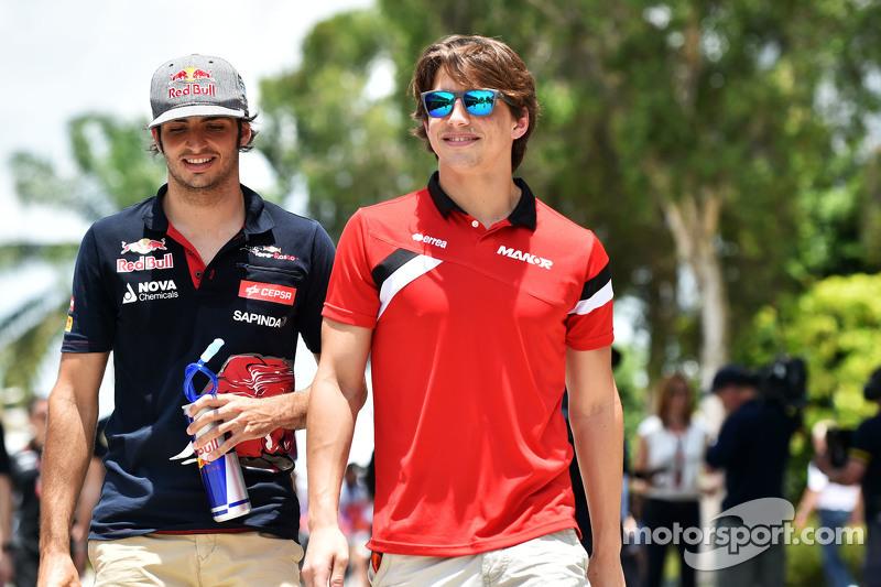 Carlos Sainz Jr., Scuderia Toro Rosso con Roberto Merhi, Marussia F1 Team