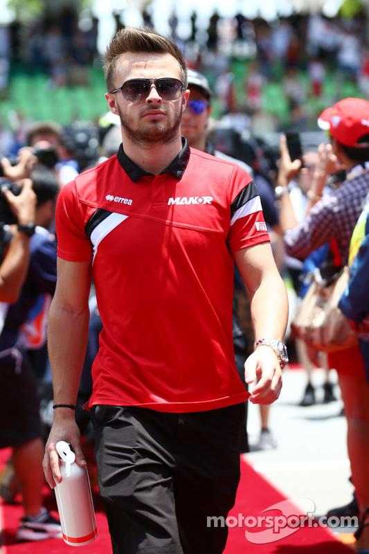 Will Stevens, de Manor F1 Team, en el desfile de pilotos