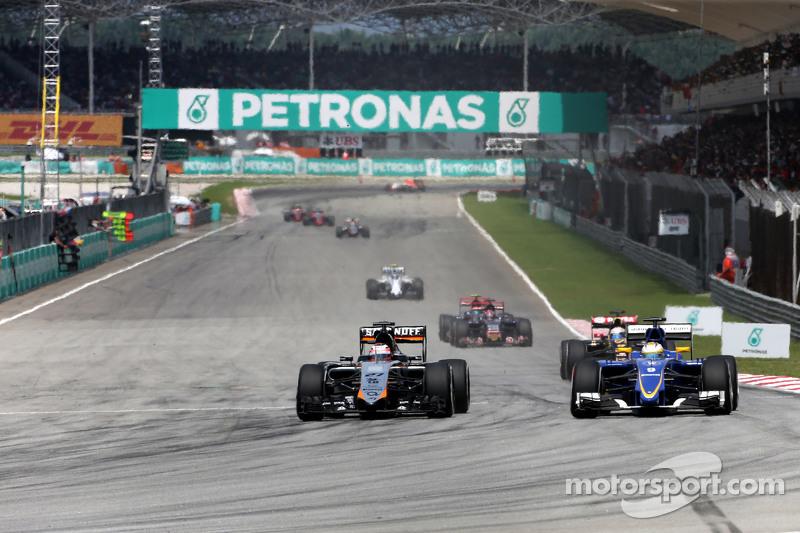 Ніко Хюлкенберг, Sahara Force India та Маркус Ерікссон, Sauber F1 Team