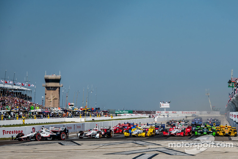 inicio: Will Power, Team Penske Chevrolet lider