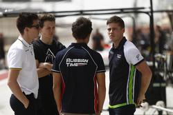 Alex Lynn, DAMS; Nick Yelloly, Hilmer Motorsport; Mitch Evans, RUSSIAN TIME, und Richie Stanaway, Status Grand Prix