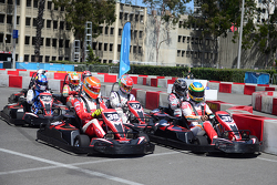 Karting event featuring Formula E drivers