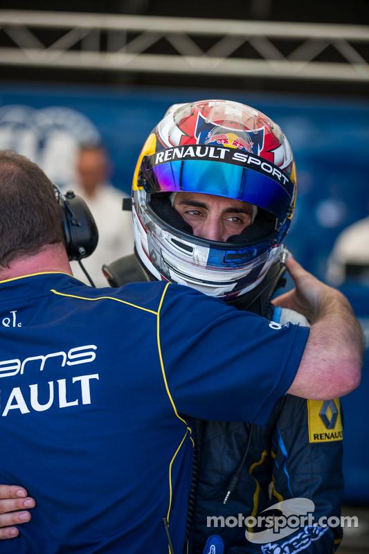 Polesitter Sébastien Buemi, e.dams-Renault
