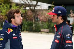Antonio Felix da Costa, Testfahrer Red Bull Racing, mit Carlos Sainz jr., Scuderia Toro Rosso