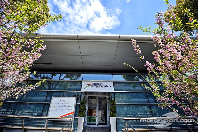 Sahara Force India F1 Team paddock building