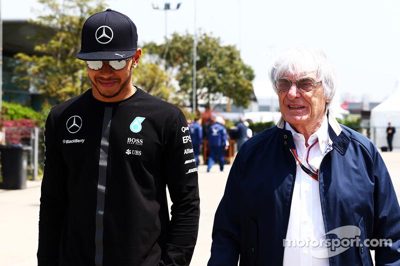 Lewis Hamilton, Mercedes AMG F1, mit Bernie Ecclestone